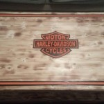 Harley Davidson Logo Wood Coffe Table