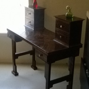 Dusty Cats Woodshop Dark Stained Vanity