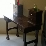 dustycatswoodshop reclaimed wood six drawer make up vanity