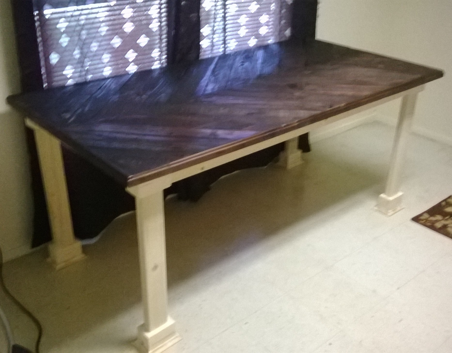 Dustycatswoodshop Reclaimed Wood Farm Table. WP_20150401_005
